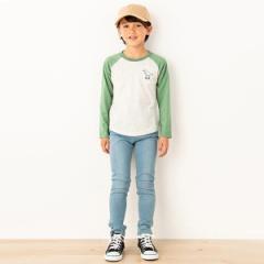 プティマイン(petit main)/恐竜刺しゅうラグランTシャツ