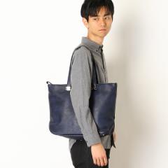 オティアス(Otias)/あおりポケット&天ファスナー付き手塗りアンティークレザータイプ合皮トートバッグ