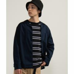 ウィゴー(メンズ)(WEGO)/WEGO/ストレッチブロードオープンカラーシャツ