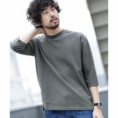 ナノ・ユニバース(メンズ)(nano universe)/【19SS】ウォッシュドビッグシルエット七分袖Tシャツ