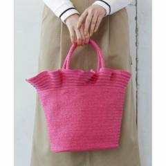 エージー バイ アクアガール(AG by aquagirl)/【WEB限定アイテム】フリルヘム巾着付きカゴバッグ