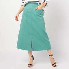 ノーリーズ レディース(NOLLEY'S)/[新色追加]ホイップドスキンAラインミディポケットスカート