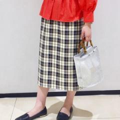 フレディ&グロスター レディース(FREDY&GLOSTER)/チェックロングタイトスカート