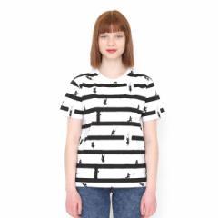グラニフ(graniph)/【ユニセックス】総柄Tシャツ/ニンジャハウスボーダー