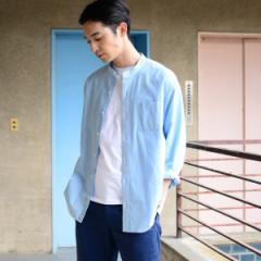 コーエン(メンズ)(coen)/インディアコットンヘアラインストライプドロップショルダーバンドカラーシャツ