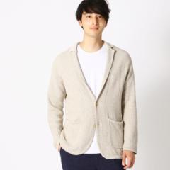 コムサイズムメンズ(COMME CA ISM)/綿麻 鹿の子編み ニットジャケット