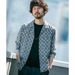 ナノ・ユニバース(メンズ)(nano universe)/【WEB限定】【19SS】PARIS AUTHENTIQUEオープンカラーシャツ長袖