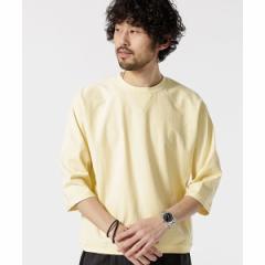 ナノ・ユニバース(メンズ)(nano universe)/【19SS】ターンナップカフスワイドTシャツ7/S