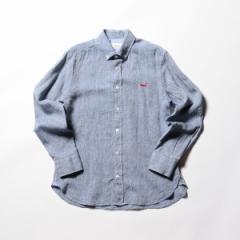 ノーリーズ メンズ(NOLLEY'S)/【新色追加】クジラ刺繍リネンボタンダウンシャツ