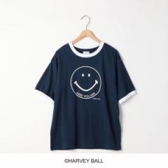 コーエン(レディース)(coen)/スマイルプリントリンガーTシャツ