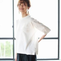 コーエン(レディース)(coen)/USAコットンハイネック5分袖Tシャツ