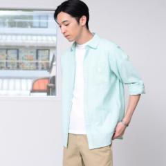 コーエン(メンズ)(coen)/綿麻ハケメレギュラーカラーシャツ