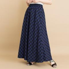 オズモーシス(OSMOSIS)/ギンガムチェックロングスカート