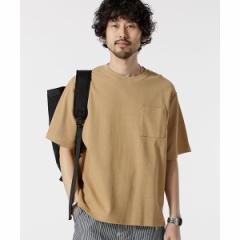 ナノ・ユニバース(メンズ)(nano universe)/【19SS】二重編みジャガードBIG Tシャツ