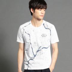 ニコルクラブフォーメン(NICOLE CLUB FOR MEN)/クラック柄プリントTシャツ
