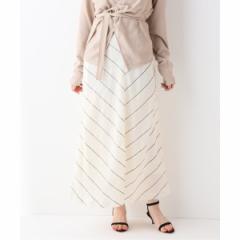 スローブイエナ(SLOBE IENA)/レディススカート(SLOBE IENA Fi.m  綿シルクストライプロングスカート)