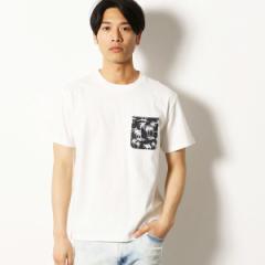 【NEW】パープル&イエロー(Purple & Yellow)/アロハ柄 ポケット Tシャツ
