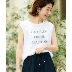【NEW】ルクールブラン(le.coeur blanc)/マルチエフェクト プリントノースリーフ(マルチエフェクト プリントノースリーブTシャツ)