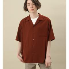 ジュンレッド(JUNRed)/ドレープオープンカラーシャツ