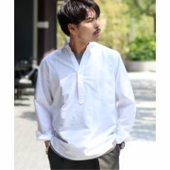エディフィス(EDIFICE)/メンズシャツ(綿麻 シャンブレー プルオーバー カッタウェイカラー シャツ)