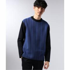 エディフィス(EDIFICE)/メンズTシャツ(WKED / ウィークエンド ストライプ ドッキング ロングスリーブ)