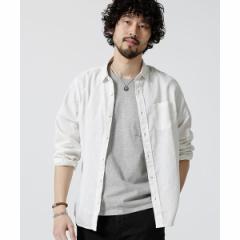 ナノ・ユニバース(メンズ)(nano universe)/【19SS】Herdman Linenシャツ LS