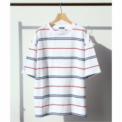 エディフィス(EDIFICE)/メンズTシャツ(LACOSTE / ラコステ別注 ボーダーTシャツ)