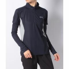 アルパインデザイン(スポーツオーソリティ)(alpine design)/トレッキング ハーフジップ半袖シャツ(アームカバー付)