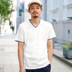 ビームス(BEAMS)/BEAMS / ダブル カラー カットオフ Vネック Tシャツ