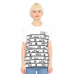 グラニフ(graniph)/【ユニセックス】コラボレーションTシャツ/メンバーシルエットボーダー(ザビートルズ)