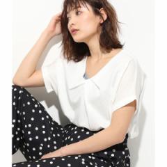 ビス(ViS)/【Silky smooth touch】フロントタックフレンチ袖プルオーバー