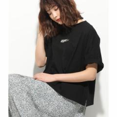 ビス(ViS)/【一部店舗限定】フロント刺繍ロゴビッグTシャツ