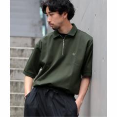 エディフィス(EDIFICE)/メンズTシャツ(FRED PERRY×EDIFICE / フレッドペリー別注 モクロディハーフジップポロ)