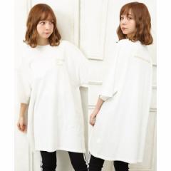 イング(INGNI)/胸ラメロゴチュニックTシャツ
