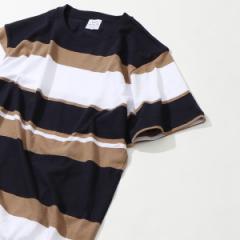 コーエン(メンズ)(coen)/USAコットンパネルボーダーTシャツ