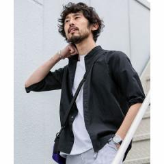 ナノ・ユニバース(メンズ)(nano universe)/【19SS】フレンチリネンバンドカラーシャツ 7分袖