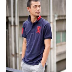ジョルダーノ(メンズ)(GIORDANO)/[GIORDANO]3Dライオン刺繍ポロシャツ