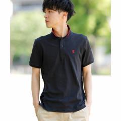 ジョルダーノ(メンズ)(GIORDANO)/[GIORDANO]スモールライオン刺繍ポロシャツ