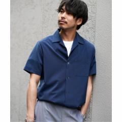エディフィス(EDIFICE)/メンズシャツ(メランジ オープンカラーシャツ)