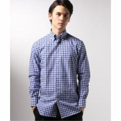 エディフィス(EDIFICE)/メンズシャツ(ボタンダウン ギンガムチェック シャツ)