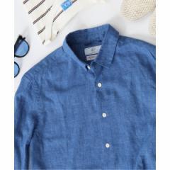 417エディフィス(417 EDIFICE)/メンズシャツ(【Begin掲載】HERDMAN LINEN レギュラーシャツ)
