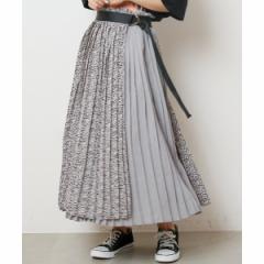 【NEW】レイカズン(RAY CASSIN)/ラップ切替プリーツスカート