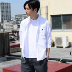 【NEW】コーエン(メンズ)(coen)/ドットプリントオックスフォード7分袖シャツ