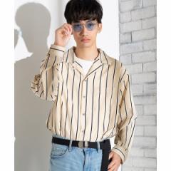 ウィゴー(メンズ)(WEGO)/クラブストライプ開襟シャツ