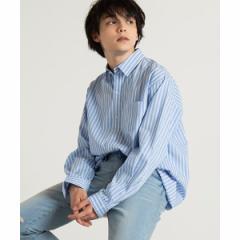 【NEW】ウィゴー(メンズ)(WEGO)/ストライプロングシャツ