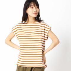 グランドパーク(GRAND PARK)/ボーダー柄フレンチスリーブTシャツ
