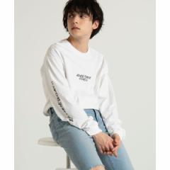 【NEW】ウィゴー(メンズ)(WEGO)/シンプルスリーブプリントロングTシャツ