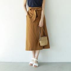 コーエン(レディース)(coen)/【『リンネル』6月号掲載】綿麻リボンタックイージースカート