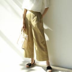【NEW】コーエン(レディース)(coen)/綿麻セミワイドイージーパンツ