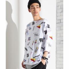ウィゴー(メンズ)(WEGO)/アンサンブル総柄BIGTシャツ